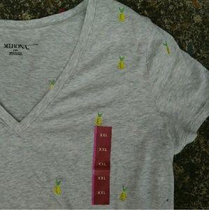 Merona lemon t shirt xxl
